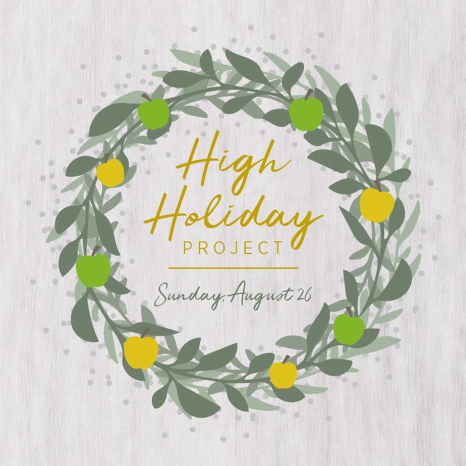 High Holiday Project by WP, YJC and Mamanet