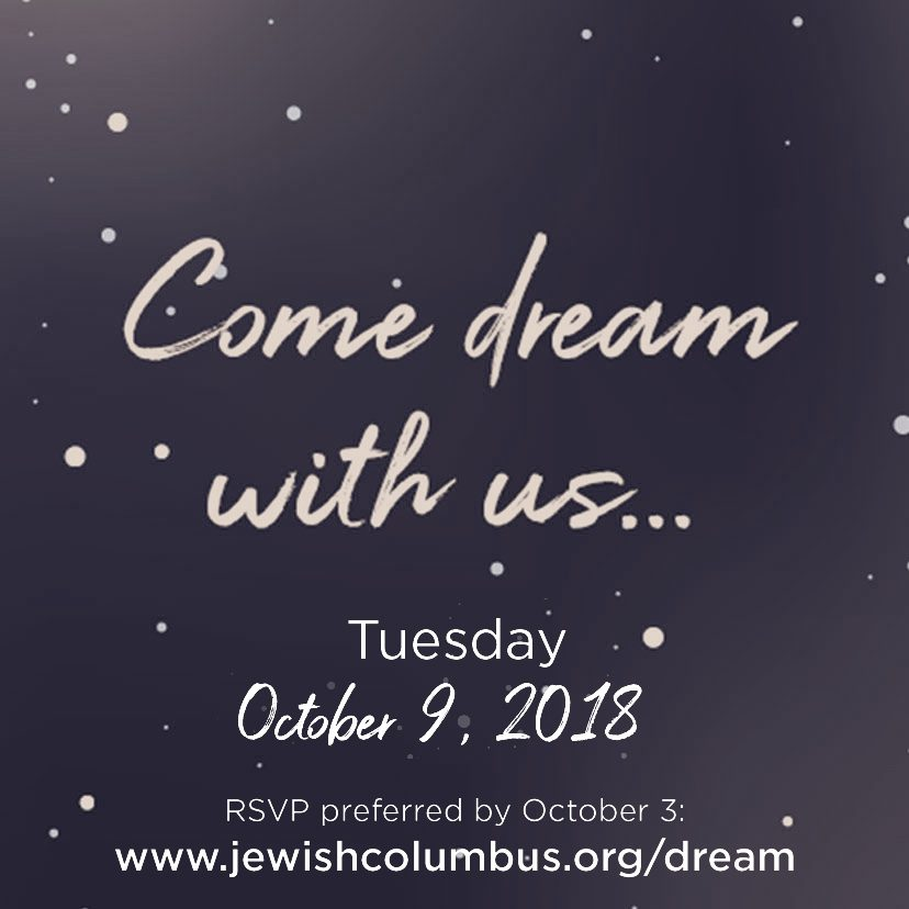 Come Dream with us Oct 9th
